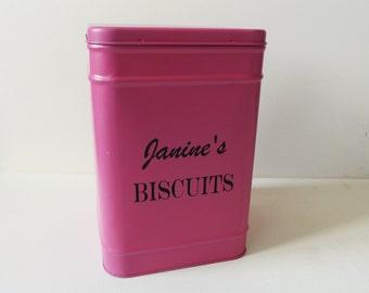 Personalised Biscuit Tin - Food Tin - Cookie Tin - Biscuit Storage - Personalised Gift - Kitchen Storage - Tinware - Sweet Tin - Baking Gift