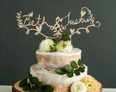 CUSTOM Wedding Cake Topper - Lasercut Wooden Rustic Design