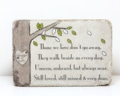 Pet Memorial Stone. Personalized Dog or Cat Memorial Gift. 6x9 Tumbled (Concrete) Paver. Remembrance Stone for Multiple Pets Indoor/ Outdoor