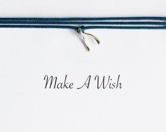 Make A Wish Wishbone Bracelet - Bohemian Jewellery, Friendship Bracelet, Boho Style, Good Luck Charm
