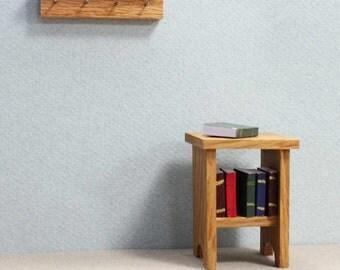 Miniature Wall Mounted Coat Hook, Dollhouse Furniture, Miniature Accessory, Mini Furniture, Dollhouse Miniature