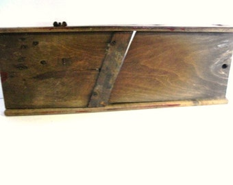 Wooden Antique Sauerkraut Maker, Cabbage Slicer, Great Primitive Kitchen Decor