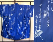 Mens kimono dark blue umb...