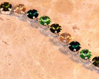"""Swarovski """"Irish Jewels"""" Tennis Bracelet"""