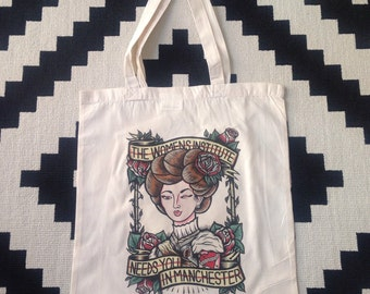 Manchester WI 'Lady' fundraising tote bag