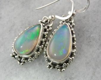 Opulent Opal Drop Earrings in Affordable Sterling 7PNK90-P