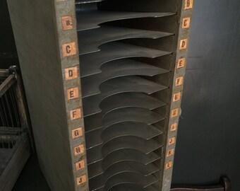 Wooden Paper Sorter Desk Organizer File CD Holder