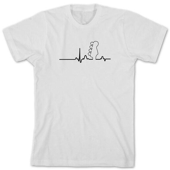 Bass Heart Shirt - gift idea for bass guitar Lover, Music, Punk Rock, Indie, Hardcore, Rockabilly, Ska, bassist - ID: 1645