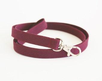Skinny Burgundy Lanyard - Thin Lanyard with Swivel Clasp - 1/2 Inch Wide - Cute Key Strap - Teacher Lanyard - Maroon - 19.5 Inch Long