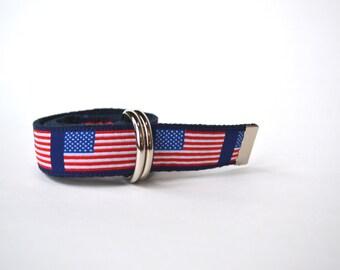 American Flag Belt, Boy Belt, Patriotic Belt, American Flag Boy