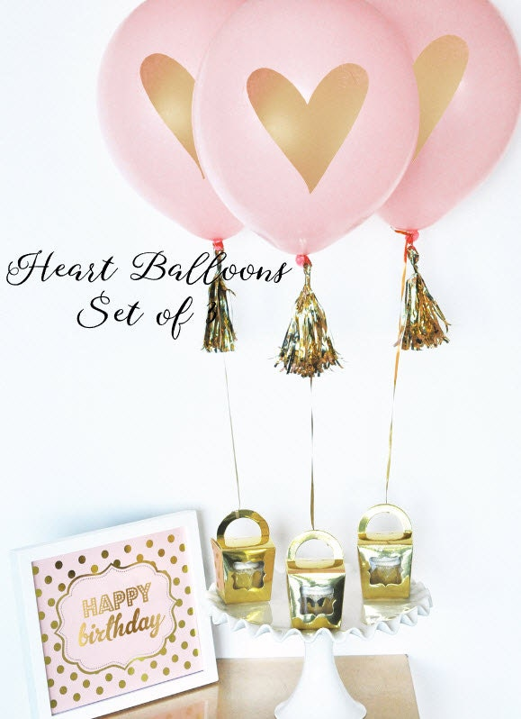 bridal shower centerpiece bridal balloons pink u0026 gold balloons gold heart balloons