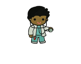 embroidery design boy doctor embroidery design