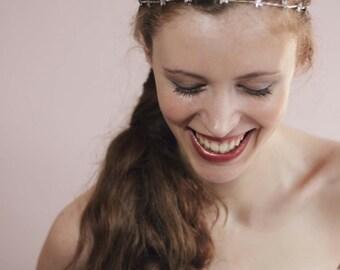 Double Row HeadbandBridal Crystal HeadbandWedding Star Tiara
