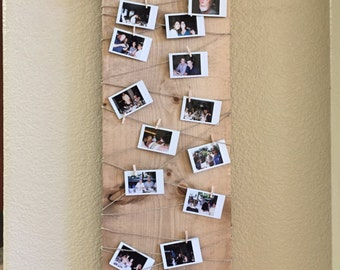 Rustic Photo Display, rustic wedding, personalized photo display, baby shower photo display, love, nursery, photo board