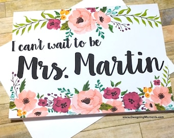 I Can't Wait to be Mrs. Wedding Card - Personalized card for Groom - Wedding Card From Bride - Wedding Card - Bride and Groom - MULBERRY