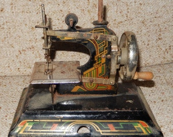 Vintage Casige Mini Toy Sewing Machine Made in Germany in the Early 1900s