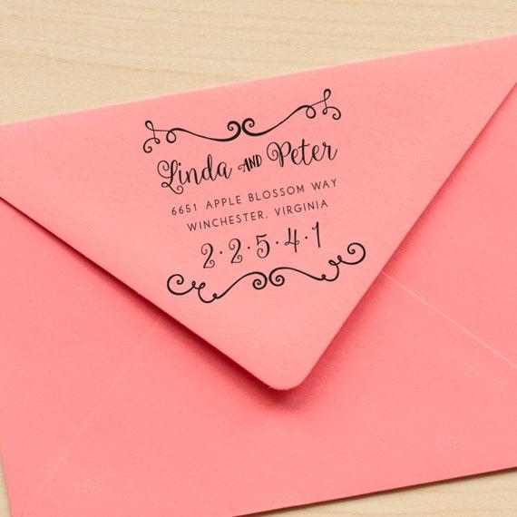 Calligraphy Address stamp, Wedding Address Stamp, Wedding Invitation stamp rustic wedding stamp wedding stationery eco friendly rubber stamp