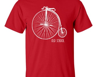 Penny-farthing T Shirt old school bicycle bike Men's Women's sizes 11 colours