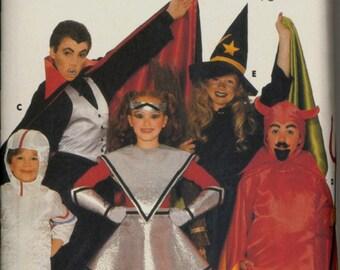 Uncut 1980s Size XS S M L Childs Witch Vampire Devil Spaceman Butterick 3492 Vintage Sewing Pattern 80s