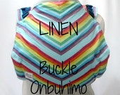 Custom linen buckle onbu, Bucklebu baby carrier, Onbuhimo back carrier, Warm climate babywearing, wrap conversion baby carrier, SSC