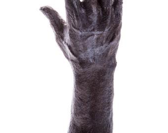 Hand sculpture, jewelry stand, paper mache sculpture, OOAK collectible item, hand made sculpture