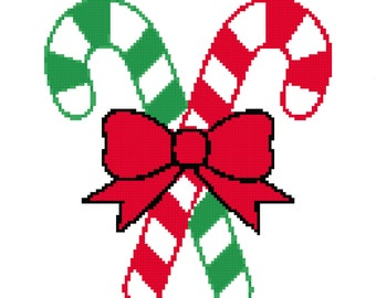 Crochet Graph Chart Pattern Baby First Christmas Blanket Candy Cane Blanket Graph Chart