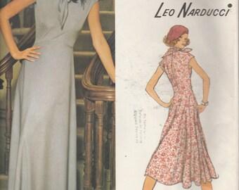 Vogue American Designer Leo Narducci 1202  Misses' Evening Dress And Scarf  Size 12