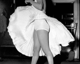 Marilyn Monroe on the set of Seven Year Itch 1955