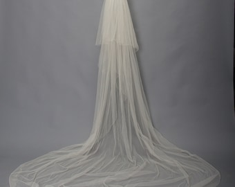 white wedding veil vintage 1940s • Revival Vintage Boutique