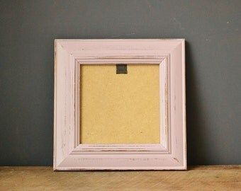 Shabby Chic Dusty Pink Rustic Distressed Photo Frame - 5 x 5 Inches