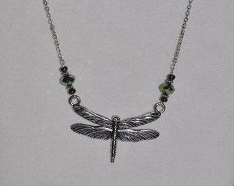 Silver Necklace Dragonfly #460