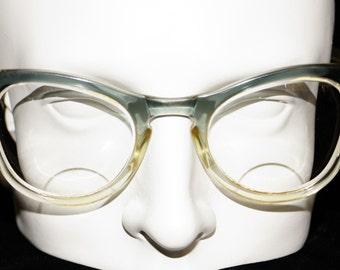 1960s Mens Bel Air Horn Rim Glasses Vintage Retro