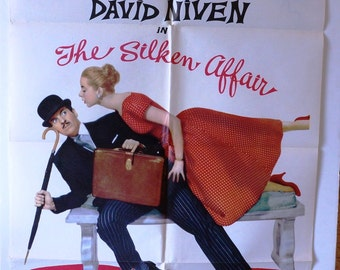 "Movie Poster ""The Silken Affair""  Original 1956 Movie Poster One-Sheet  David Niven - Geneviève Page"