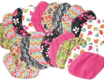 Set  of 20 pcs Reusable/ washable cloth Panty liner pads with Wings