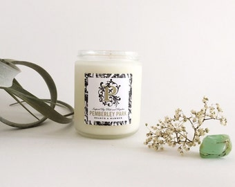 Pemberley Park Literary Candle — Book Candle // Inspired by Pride & Prejudice