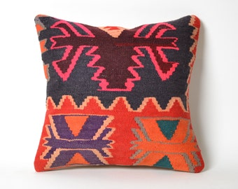 kilim pillow, kilim pillow 15x15, pillow cover, turkish kilim pillow, turkish pillow, kilim pillows vintage kilim pillow, 15x15 kilim pillow