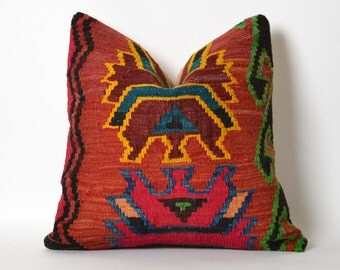 kilim pillows vintage decorative throw pillow hand