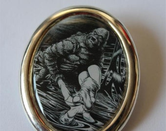 """Brooch """"Creature from Black Lagoon"""" Pin up"""