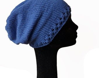 Slouch Beanie Hat / Summer Knit Hat / Knit Hat / Gifts