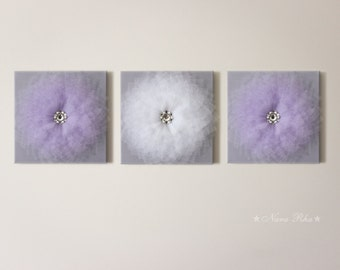 Nursery Wall Art, Nursery Art, Nursery Decor,  Wall Decor, Kids Room Decor, Wall Art, Baby Shower Decor, Living Room Decor, Purple and Gray