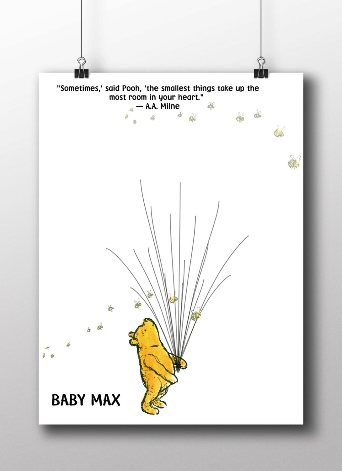 Winnie The Pooh Baby Shower Guest Book By Serendipitypaperieuk