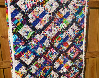 Primary colors and shapes baby/toddler quilt