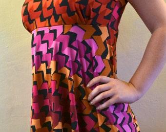 Reds Geometric Print Peter Pan Collared Dress (UK 8/10)