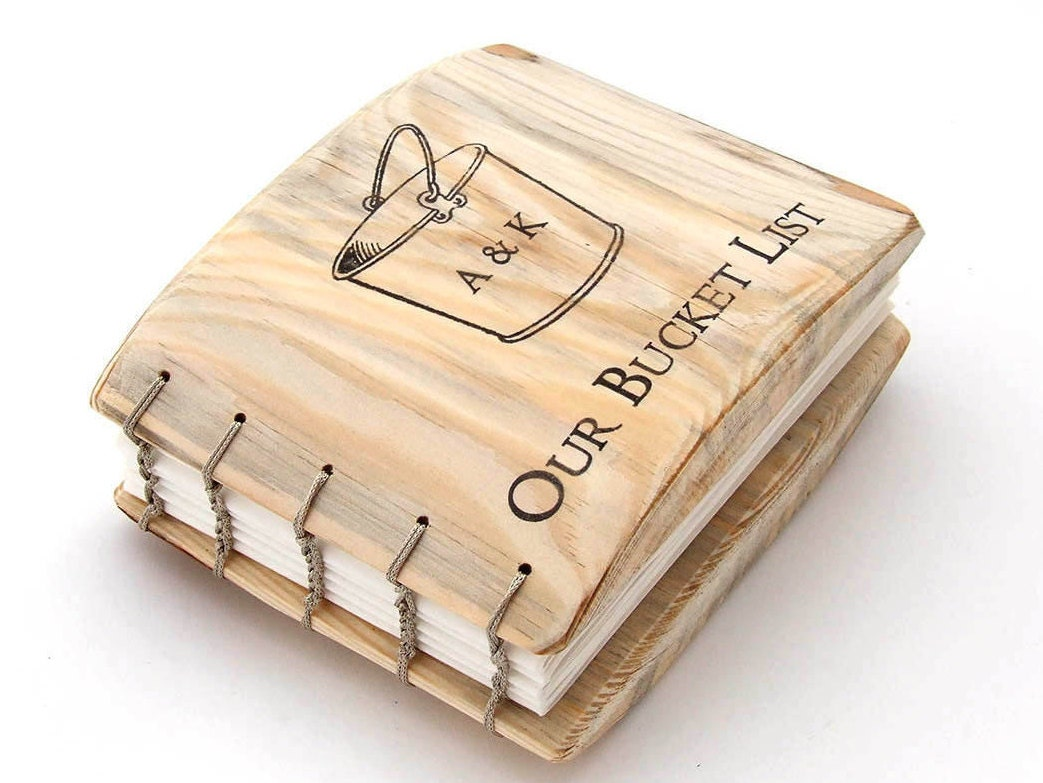 Fifth Wedding Anniversary Gifts For Men: Bucket List Valentines Day Gift Wooden Gift Love Gifts Bucket