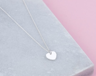 Personalised Handmade Sterling Silver Heart Necklace