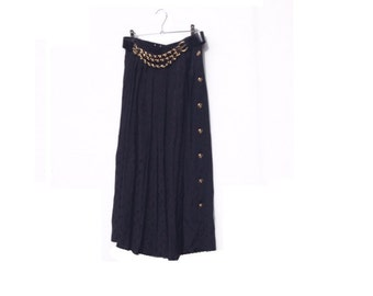 80s Black PARTY Skirt S/M Madonna Style Goth