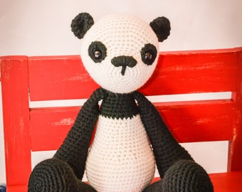 Panda Bear Crocheted Stuffed Animal/Toy (Made to Order)