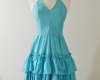 1970's Blue Day Dress