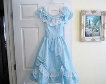 Vintage Gunne Sax Southern Bell Party Dress/ Vintage Dress/Young Lady Gunne Sax Princess Dress