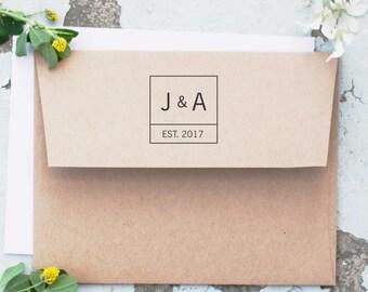 Wedding Stamp, Save the Date Stamp, Custom Wedding Stamp, Personalized Wedding Stamp,  Custom Self Inking Stamp, Date Stamp  CS-10236